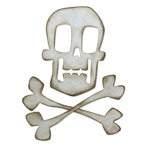 Tim Holtz Sizzix SKULL AND CROSSBONES Bigz Die 664215 Preview Image
