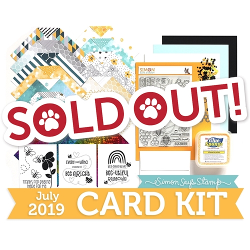 Simon Says Stamp Card Kit of The Month JULY 2019 BEE YOURSELF ck0719 Preview Image