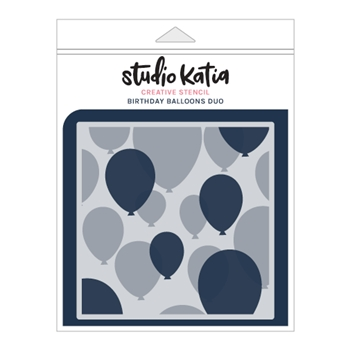 Studio Katia BIRTHDAY BALLOONS DUO Stencil Set sks015