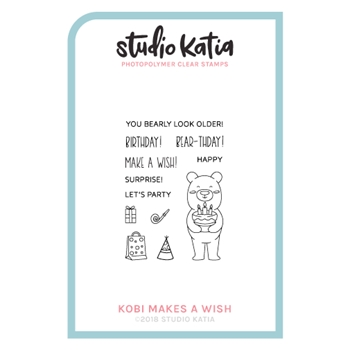 Studio Katia KOBI MAKES A WISH Clear Stamps skcs089