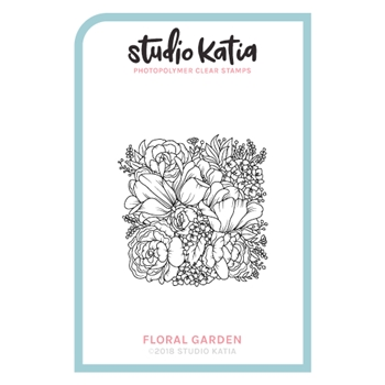 Studio Katia FLORAL GARDEN Clear Stamps skcs094