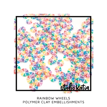 Studio Katia RAINBOW WHEELS Polymer Clay Embellishments sk2442