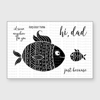 Picket Fence Studios FISHY KISSES Clear Stamp Set oc108
