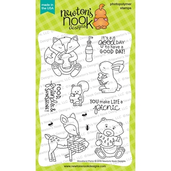 Newton's Nook Designs WOODLAND PICNIC Clear Stamps NN1906S01