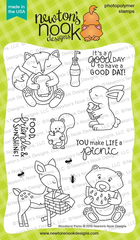 Newton's Nook Designs WOODLAND PICNIC Clear Stamps NN1906S01 zoom image