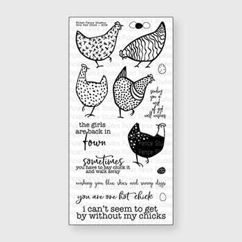 Picket Fence Studios ONE HOT CHICK Clear Stamp Set a132