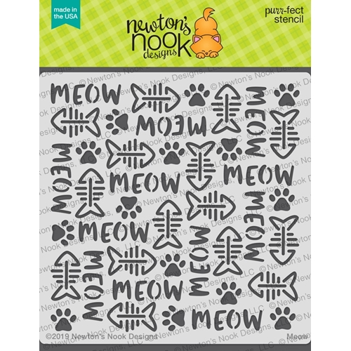 Newton's Nook Designs MEOW Stencil NN1906T01 Preview Image