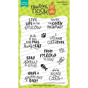 Newton's Nook Designs CAT-ITUDE Clear Stamps NN1906S04