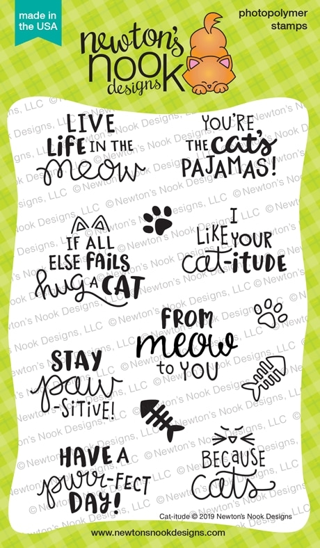 Newton's Nook Designs CAT-ITUDE Clear Stamps NN1906S04 zoom image