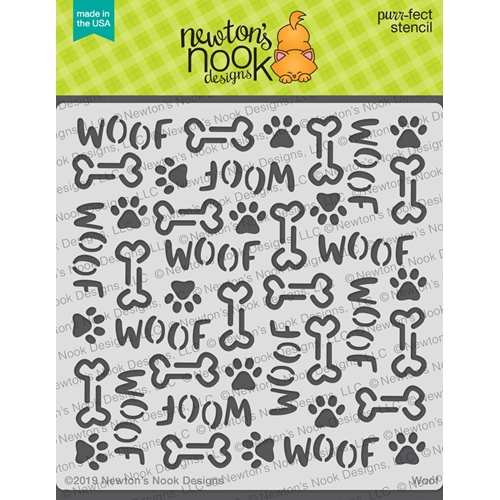 Newton's Nook Designs WOOF Stencil NN1906T02 Preview Image