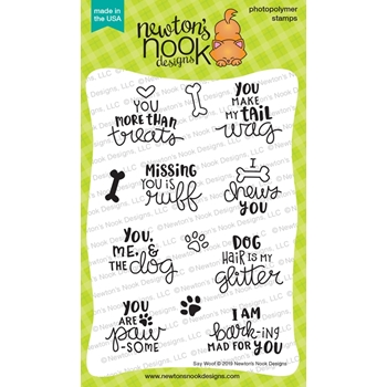 Newton's Nook Designs SAY WOOF Clear Stamps NN1906S05