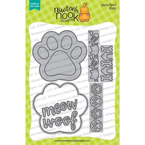 Newton's Nook Designs PAWPRINT SHAKER Dies NN1906D04 Preview Image