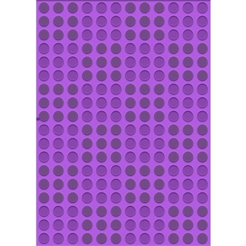Crafter's Companion DOTS AND SQUARES Gemini A6 3D Embossing Folder gem-efa6-3d-ds