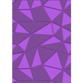 Crafter's Companion GEOMETRIC DECOR Gemini A6 3D Embossing Folder gem-efa6-3d-gd