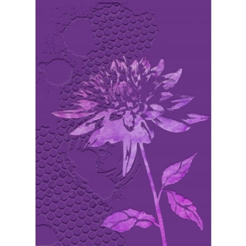 Crafter's Companion CHRYSANTHEMUM Gemini 3D Embossing Folder And Stencil gem-ef5-3d-chry