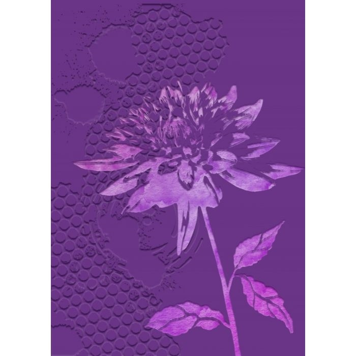 Crafter's Companion CHRYSANTHEMUM Gemini 3D Embossing Folder And Stencil gem-ef5-3d-chry zoom image