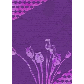 Crafter's Companion POPPY SEED HEADS Gemini 3D Embossing Folder And Stencil gem-ef5-3d-poph