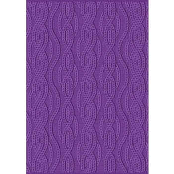 Crafter's Companion CABLE KNIT Gemini 3D Embossing Folder And Stencil gem-ef5-3d-ck
