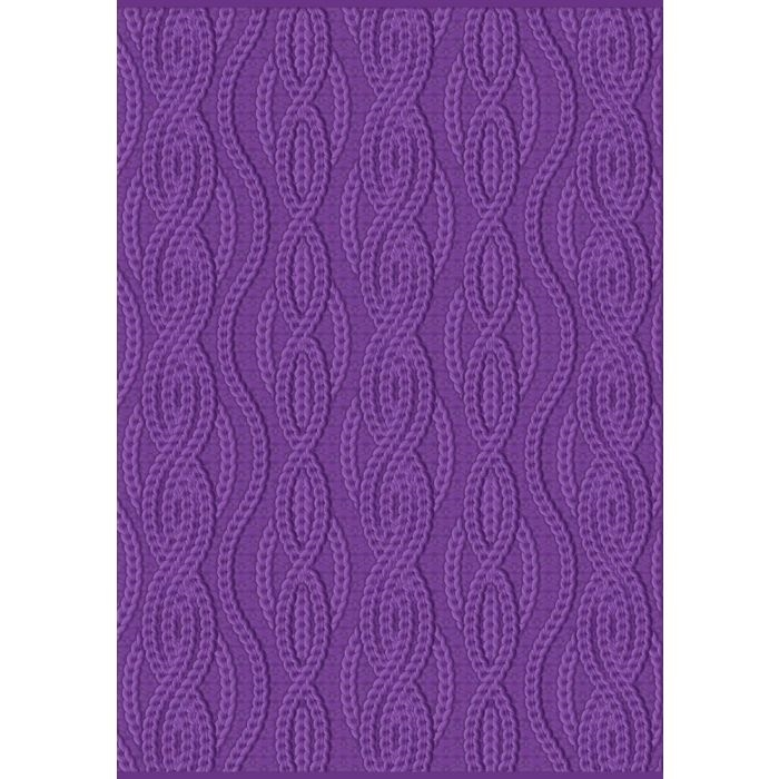 Crafter's Companion CABLE KNIT Gemini 3D Embossing Folder And Stencil gem-ef5-3d-ck zoom image