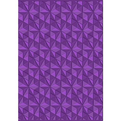 Crafter's Companion GEOMETRIC TRIANGLES Gemini 3D Embossing Folder gem-ef5-3d-gt Preview Image