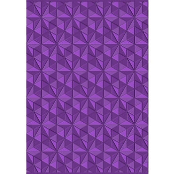 Crafter's Companion GEOMETRIC TRIANGLES Gemini 3D Embossing Folder And Stencil gem-ef5-3d-gt