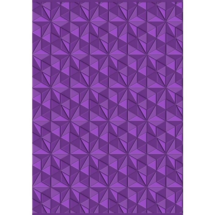Crafter's Companion GEOMETRIC TRIANGLES Gemini 3D Embossing Folder gem-ef5-3d-gt zoom image