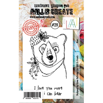 AALL & Create BEAR 221 Clear Stamp aal00221