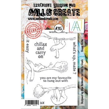 AALL & Create SLEEPY SLOTHS 215 Clear Stamps aal00215