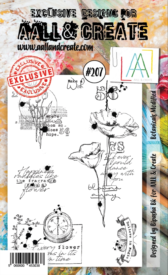 AALL & Create BOTANICALS MODIFIED 207 Clear Stamps aal00207 zoom image
