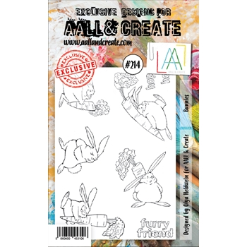 AALL & Create BUNNIES 214 Clear Stamps aal00214