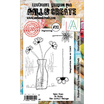AALL & Create FLOURISHING VASE 213 Clear Stamps aal00213