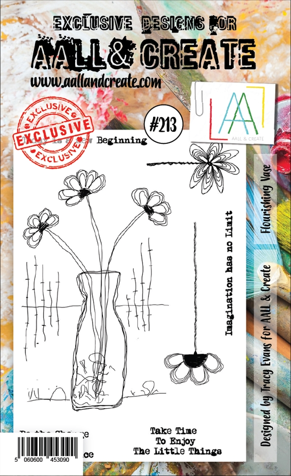 AALL & Create FLOURISHING VASE 213 Clear Stamps aal00213 zoom image