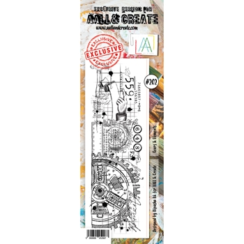AALL & Create GEARS AND ELEMENTS 202 Clear Stamp aal00202