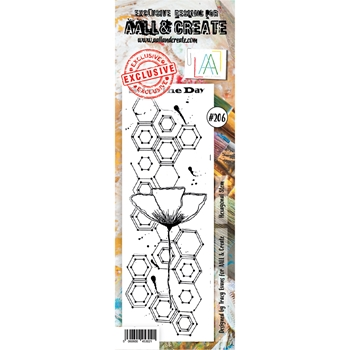 AALL & Create HEXAGONAL STEM 206 Clear Stamp aal00206