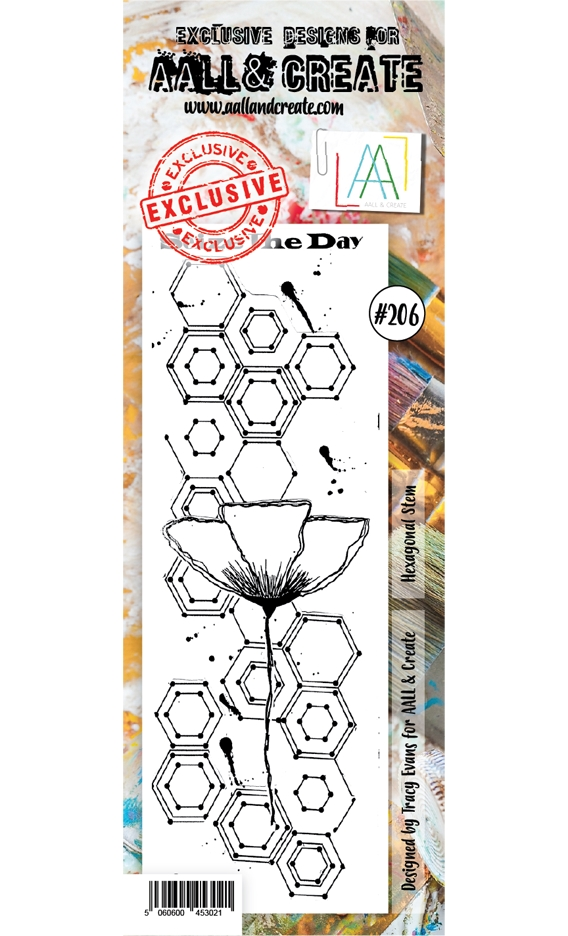 Aall & Create Hexagon Stem Clear Stamp Set