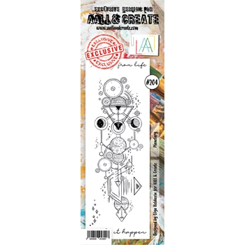 AALL & Create POSTAL ROSE 204 Clear Stamp aal00204