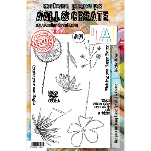 AALL & Create ECLECTIC STEMS 199 Clear Stamp aal00199 Preview Image