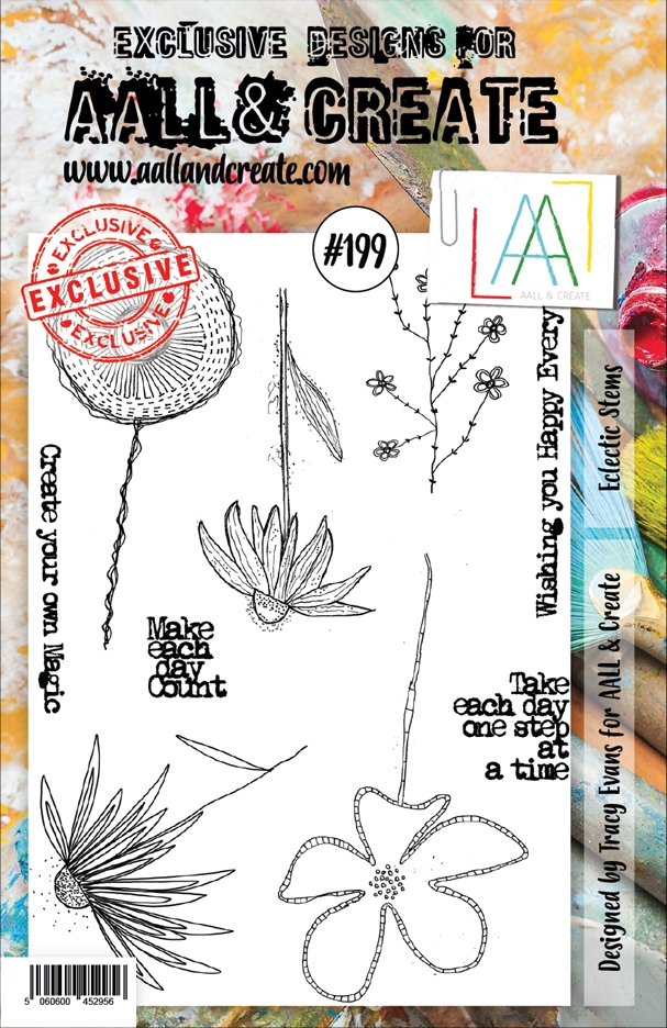 AALL & Create ECLECTIC STEMS 199 Clear Stamp aal00199 zoom image