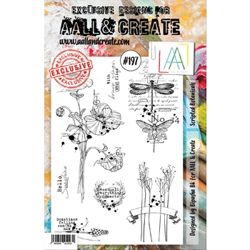 AALL & Create SCRIPTED BOTANICALS 197 Clear Stamp aal00197