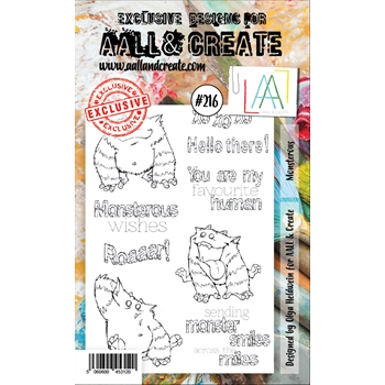 AALL & Create MONSTEROUS 216 Clear Stamps aal00216