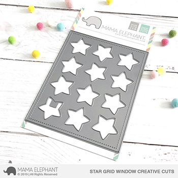 Mama Elephant STAR GRID WINDOW Creative Cuts Steel Dies