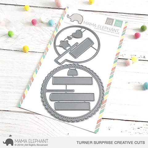Mama Elephant TURNER SURPRISE Creative Cuts Steel Dies Preview Image