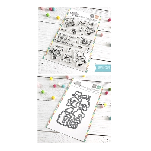 Mama Elephant Clear Stamp and Die mept649 Shall We Dance SET Preview Image