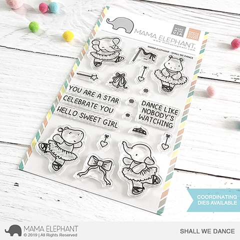 Mama Elephant Clear Stamps SHALL WE DANCE Preview Image