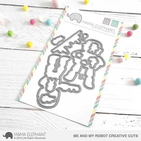 Mama Elephant ME AND MY ROBOT Creative Cuts Steel Dies Preview Image