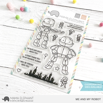 RESERVE Mama Elephant Clear Stamps ME AND MY ROBOT