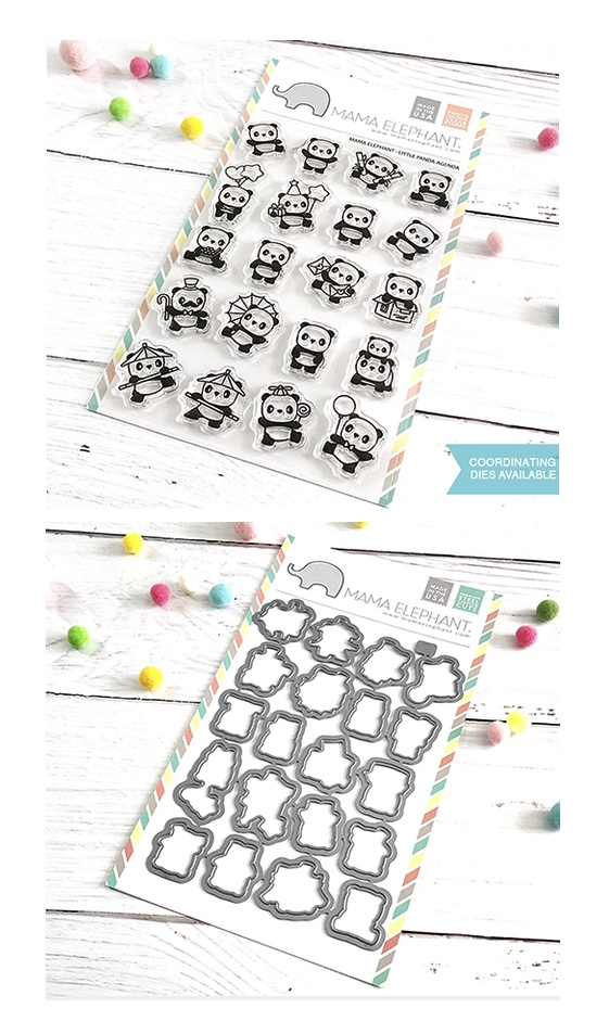 Mama Elephant Clear Stamp and Die mept655 Little Panda Agenda SET zoom image