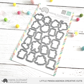 Mama Elephant LITTLE PANDA AGENDA Creative Cuts Steel Dies