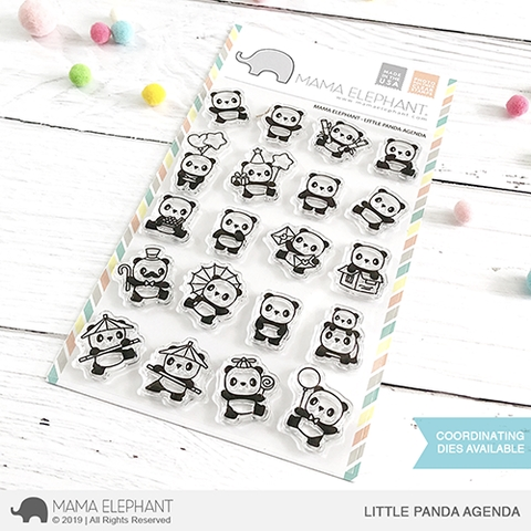 Mama Elephant Clear Stamps LITTLE PANDA AGENDA  Preview Image