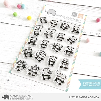 Mama Elephant Clear Stamps LITTLE PANDA AGENDA